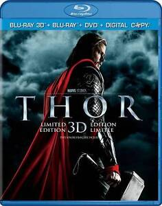 Thor 3D (Blu-ray/DVD, 2011, Canadian; 3D; Includes Digital Copy) in DVDs & Movies, DVDs & Blu-ray Discs | eBay