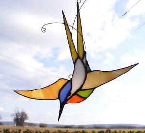 Tiffany-Glas-Fensterbild-KOLIBRI