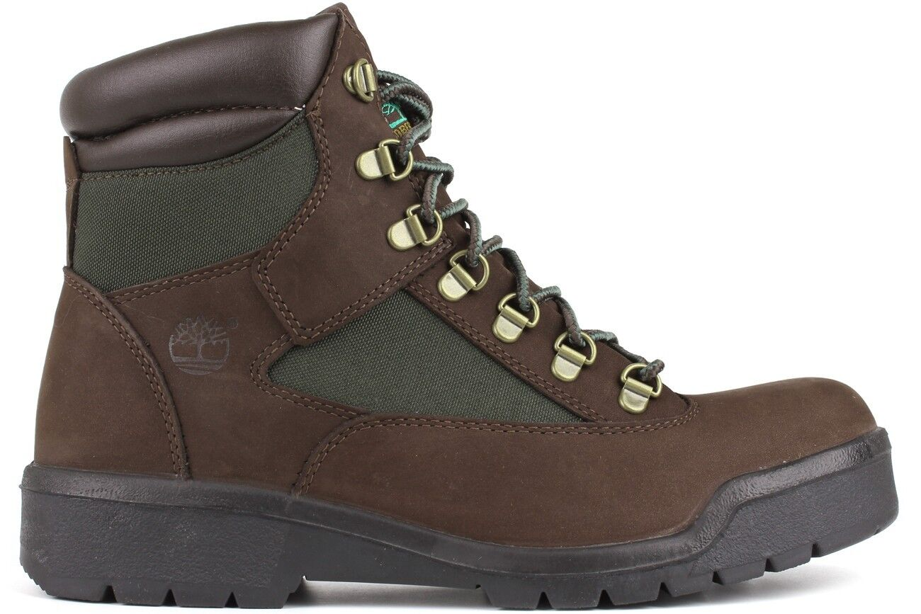 timberland 6 inch field boots brown green 72510 mens new