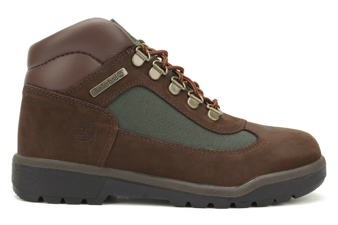 Timberland Field 16937 New Gs Youth Kids Dark Brown Olive