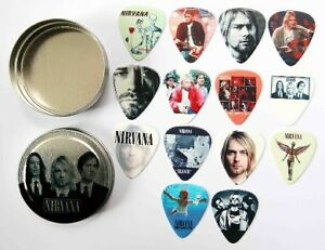 Tin-of-14-Nirvana-Full-Colour-Guitar-Picks-Two-Sided