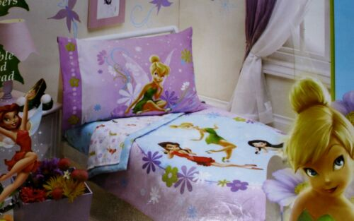 Tinkerbell Fairies Toddler Bedding Set 5 Pc Set Comforter Sheets Stick Ups New! in Home & Garden, Kids & Teens at Home, Bedding | eBay