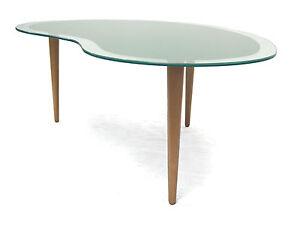 Tisch-Nierentisch-Couchtisch-Holz-Trichterfuesse-Glasplatte-im-Stil ...