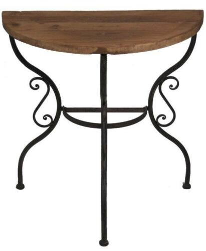 tisch wandtisch aus metall mit tischplatte aus altem. Black Bedroom Furniture Sets. Home Design Ideas
