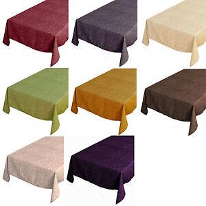 Tischdecke-Rund-Eckig-Oval-Farbe-waehlbar-Classic-oder-SABRINA-Lotus-Effekt