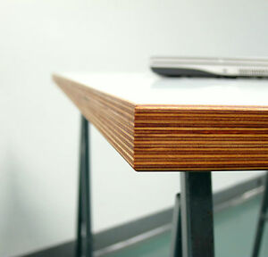 tischplatte 140x70 multiplex 30mm melaminbeschichtet wei zb f r eiermann ebay. Black Bedroom Furniture Sets. Home Design Ideas