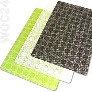 tischset platzdeckchen platzset abwaschbar schwarz gr n weiss kunststoff ebay. Black Bedroom Furniture Sets. Home Design Ideas