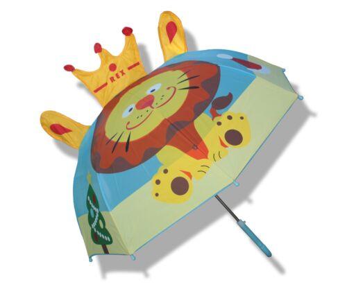 Toddler Little Kid Boys or Girls Cute Zoo Pop-up Umbrella,Lion~USA Seller