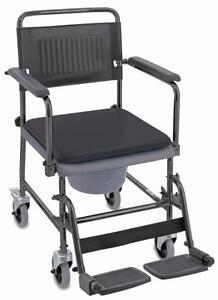 Toilettenstuhl-Aquatec-Rollstuhl-Toilettenrollstuhl-NEU