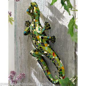 Tolle eidechse gecko salamander f r hauswand wanddeko ebay - Wanddeko eidechse ...