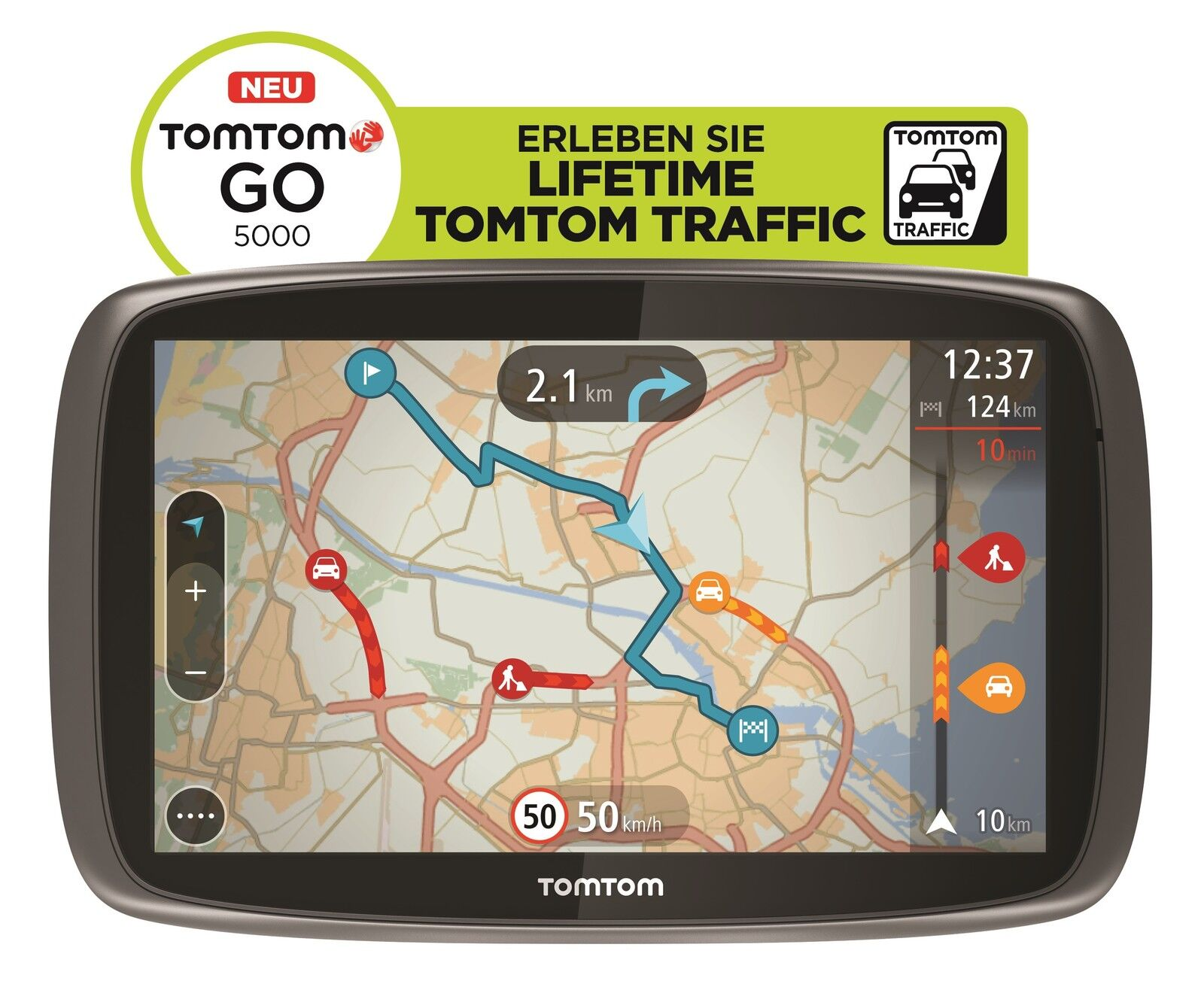 tomtom go 5000 m europa xxl hd traffic free lifetime 3d maps iq tap go gps wow. Black Bedroom Furniture Sets. Home Design Ideas
