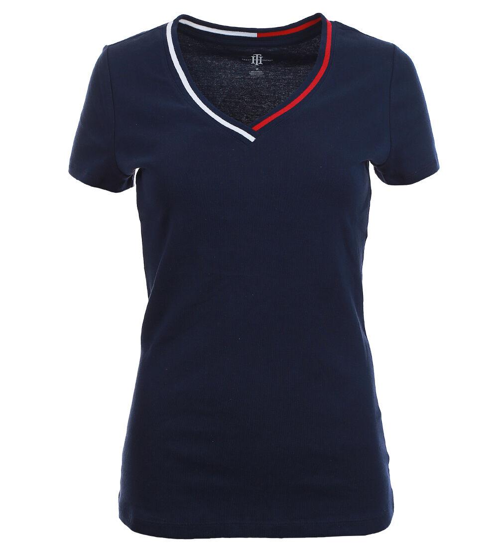 Tommy hilfiger damen v neck shirt t shirt damenshirt for Tommy hilfiger shirt size chart