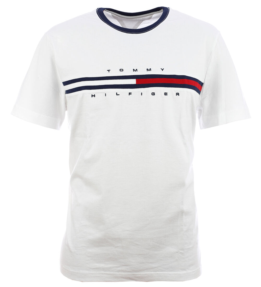 tommy hilfiger flag t shirt shirt white size s xxl. Black Bedroom Furniture Sets. Home Design Ideas