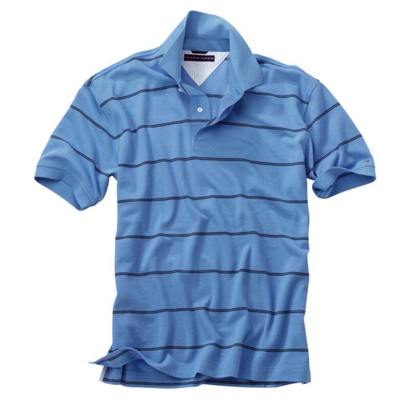 Tommy Hilfiger Mens Stripe Pique Polo Shirt COLOR SIZE