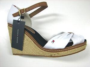 tommy hilfiger sandale sandalette wedge keilabsatz emery 16 weiss neu ebay. Black Bedroom Furniture Sets. Home Design Ideas