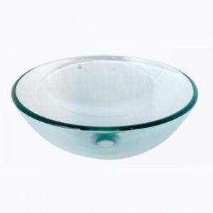 ... Round Circular Clear Glass Bathroom Basin Sink Wash Bowl eBay