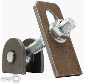 Torangel-Torband-M16-Scharnier-verstellbar-Anschweissband-Schlosskasten-Garage