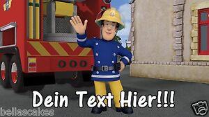 Tortenaufleger-Feuerwehrmann-Sam-Dekoration-mit-Namen-A4-essbar-NEU-backen