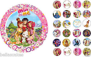 Tortenaufleger-Mia-and-Me-Prinzessin-DVD-Deko-NEU-Muffin-Tortenbild-Elfe-Fee-cd