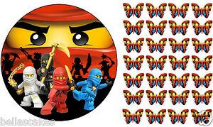 Tortenaufleger-Ninjago-Chima-Schmetterling-NEU-Muffin-DVD-cd-Deko-Figur-essbar