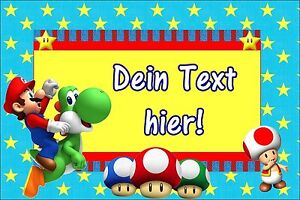Tortenaufleger-Super-Mario-Luigi-Spiel-Muffin-NEU-Deko-Tortenbild-mit-Namen-Toad