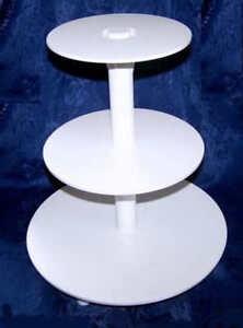 tortenst nder etagere 3 st ckig hochzeit tortenplatte wei. Black Bedroom Furniture Sets. Home Design Ideas