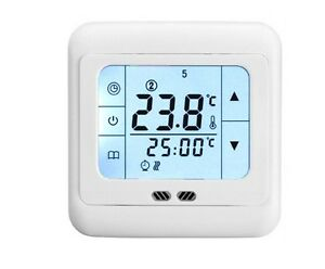 touchscreen digital raumthermostat fu bodenheizung programmierbar thermostat ebay. Black Bedroom Furniture Sets. Home Design Ideas