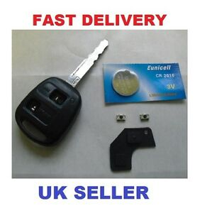 toyota avensis corolla 2 button remote key repair kit switches battery ebay. Black Bedroom Furniture Sets. Home Design Ideas