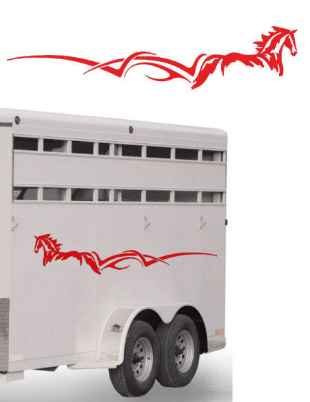 """Trailer Decal Kit Set 2 Horse Graphic RV Truck Car 60"""""""