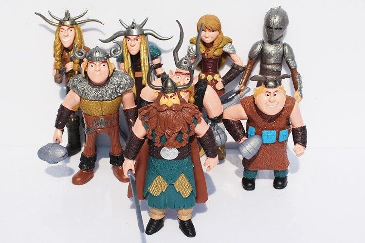 How to Train Your Dragon 8x Figures Characters Set: Hiccup ...