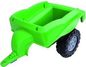 Traktor-Anhaenger-f-Kindertraktor-Traktor-Tretfahrzeug-Farbe-gruen-Zubehoer-von-Big