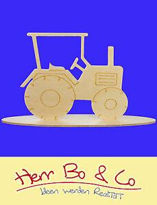 Traktor Bauernhof Holz Tischschmuck Basteln Malen Deko Ebay