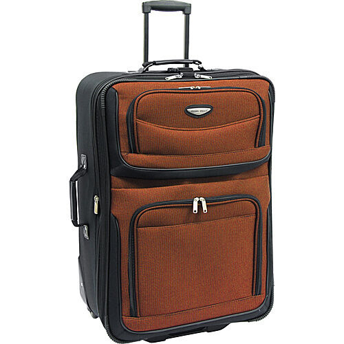 "Travel Select Orange Amsterdam 29""in Expandable Rolling Upright Luggage Suitcase in Travel, Luggage 