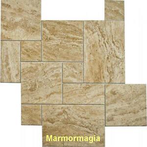 travertin marmor antikmarmor naturstein fliese wohnen r mischer verband jumbo. Black Bedroom Furniture Sets. Home Design Ideas