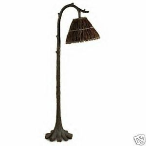rustic floor lamps on tree trunk floor lamp unique rustic lodge decor ebay