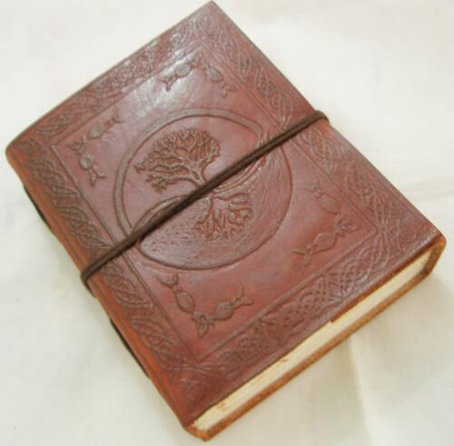 Tree of Life Handmade Paper Engraved Leather bound Journal Blank Diary Notebook in Books, Accessories, Blank Diaries & Journals | eBay