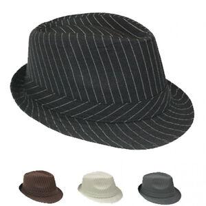 Trendy fedora trilby al capone hut mafia mafiahut gangs nadelstreifen hat 025 ebay - Trendy gang ...