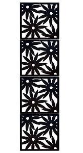 trennwand dekorativer raumteiler flower kunststoff zum verbinden zuhause schwarz ebay. Black Bedroom Furniture Sets. Home Design Ideas