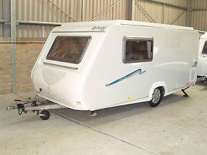 Trigano Silver 380TDL 2007 lightweight pop top caravan ...