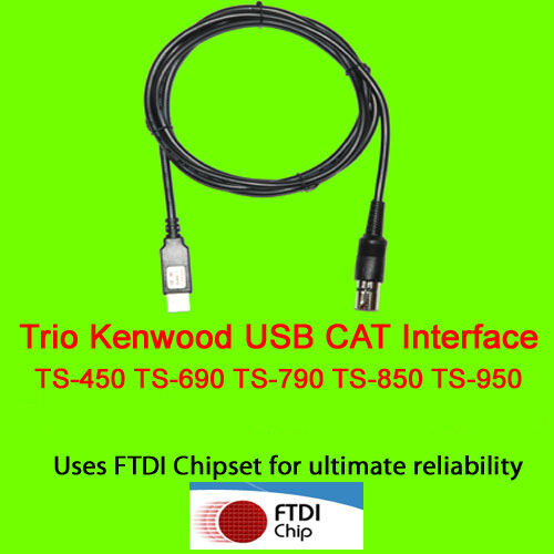 Trio Kenwood USB CAT Cable TS 450 TS 690 TS 790 TS850 TS 950