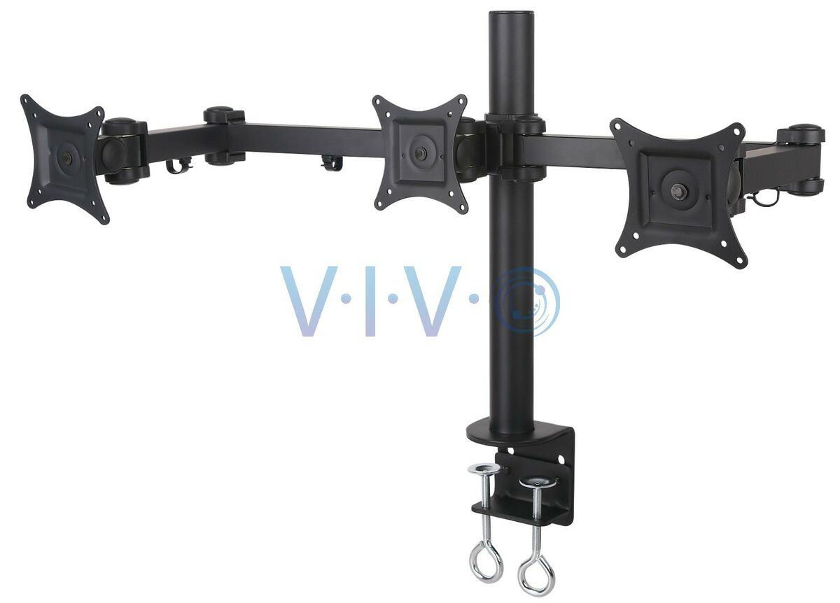 Triple LCD Monitor Desk Mount Stand Heavy Duty Adjustable 3 Screens