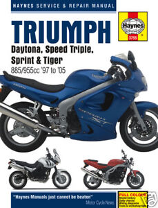 Triumph-Daytona-955i-Sprint-Speed-Triple-Tiger-T509-T595-Haynes-Manual-3755-NEW