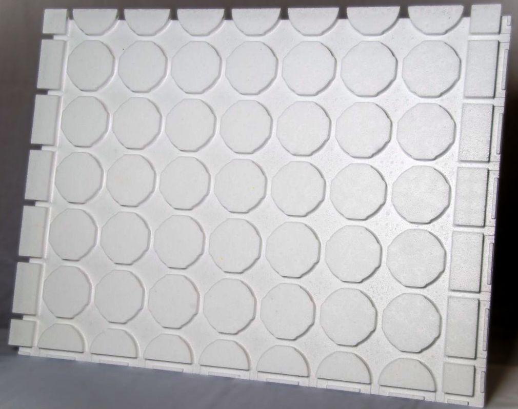 0,72 m² Fußbodenheizung Platten Trockenbau NUR 25 MM AUFBAU-für 16er Rohr