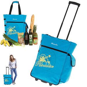 Trolley-ALESSANDRO-XL-Einkaufstrolley-Einkaufskorb-Einkaufsroller-Blau-Bag-AQUA