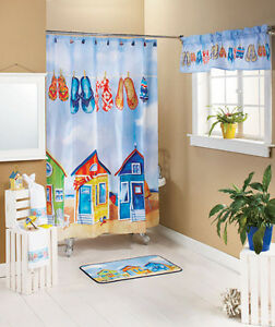 Beach & Fish Shower Curtains, Shells Too ! Showerail UK Online