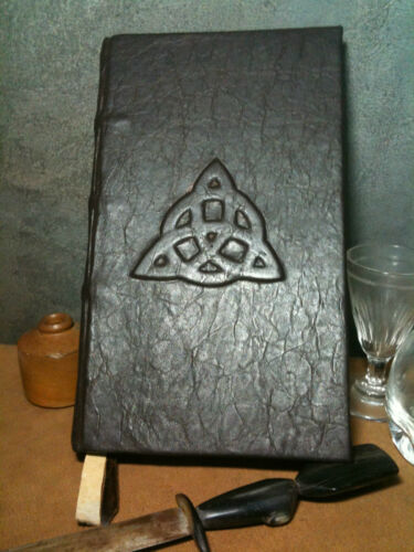 Trquetra Book of Shadows Hand Made Leather bound book in Books, Accessories, Blank Diaries & Journals | eBay