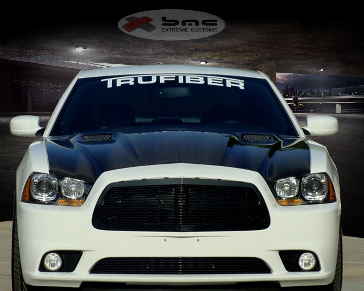 Trufiber A58 Dodge Charger Fiberglass RAM Air Hood 2011 2013