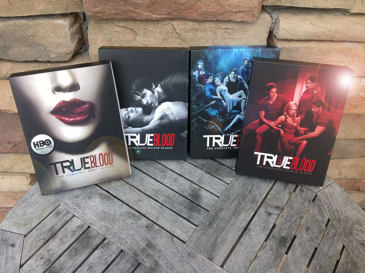 True Blood Complete DVD First Second Third Fourth Seasons 1 4 1 2 3 4