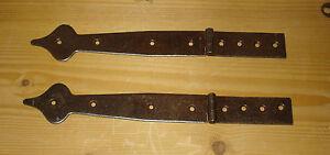 Truhenband-Eisen-Oberflaeche-Rost-Antik-2-Stueck