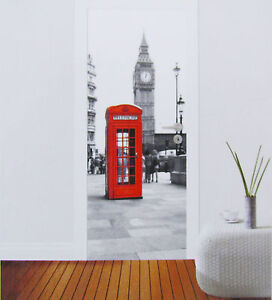 t r fototapete big ben telefonzelle london t r tapete t r poster bild tapete ebay. Black Bedroom Furniture Sets. Home Design Ideas